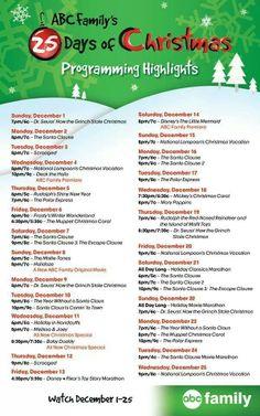 ABC Family's 25 Days of Christmas programming