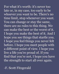 F. Scott Fitzgerald (misattributed)