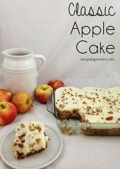 classic appl, appl cake, flour, eggs, butter, apples, blog, apple cakes, cream cheese frosting