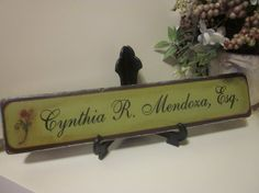Personalize IT Sign for Desk / Wall by ThoughtsAndBlocks on Etsy, $24.00