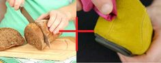 Use stale bread crust to remove dirt from suede. | 25 Ingenious Clothing Hacks Everyone Should Know