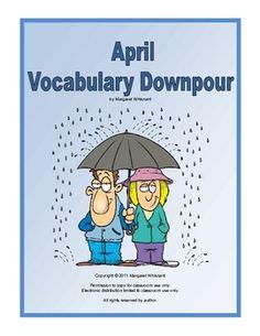 April Vocabulary Downpour--Free