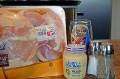 Crockpot honey mustard chicken