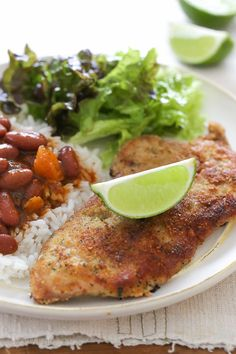 Breaded Pork Cutlets with Lime
