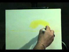 Painting Sunsets Part 1 art lesson, paint sunset