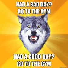 A bad day? Go to the gym! Had a good day? Go to the gym! #Inspiration. #Workout #Weight_loss #Fitness