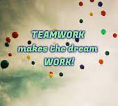 Teamwork makes the dream work!!!