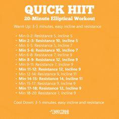 Quick HIIT: A 20-Minute Elliptical Workout