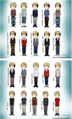 the many stages of niall <3