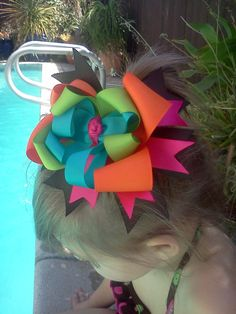 Boutique hair bow #rrrhairbow