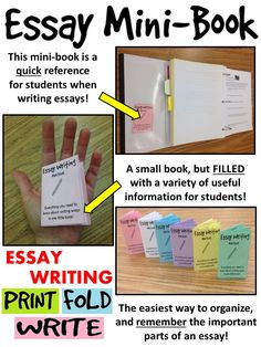 This little resource includes all of the tips and tricks that students will need to refer to when writing an essay.