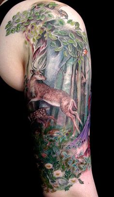I love the idea of having a forest tattoo for some reason.. maybe because it reminds me of Twilight! LOL!