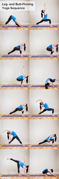 "Burning Squats Yoga Sequence: Your Jeans Will Say ""More Please! by fitsugar #Yoga #Squats_Sequence"