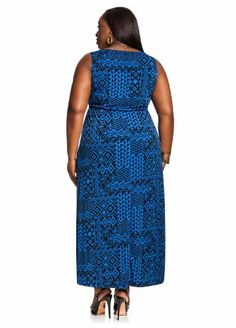 Ashley-Stewart-Womens-Plus-Size-Web-Exclusive-V-Neck-Belted-Maxi-Dress-Royal-Blue-26-2 maxi dresses, maxis