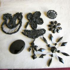 TREASURY ITEM Lot of mourning pieces by lesjardinsdeleanor on Etsy