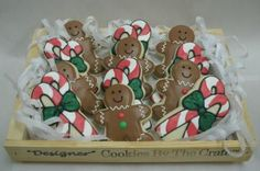 Gingerbread Men  Candycane Cookies by DesignerCookies for $36.00