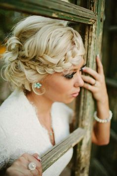 We incorporated this fun braid to a simple updo