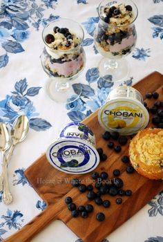Layered Muffin Chobani Trifle