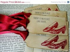 There's No Place Like HomeWizard of Oz Vintage Tags by craftypagan, $7.60
