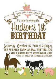 Farm Party invite?