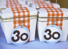 30th favor boxes