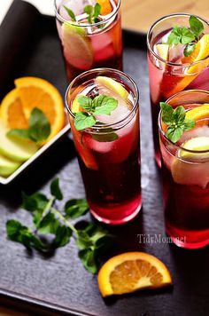Apple Pomegranate Spritzers
