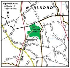 Map to Big Brook Park
