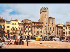 The Piazza Grande in Arezzo, Italy