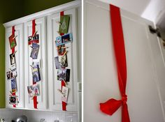 another great #holiday #decor tip using what u own to hang holiday cards