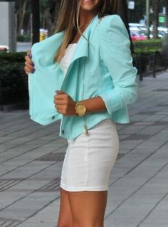 #Mint blazers.   #womensfashion #women #dress #fashion #fall #autumn #2012 #top #skirt #blazer #shirt #jeans #denim #heels #handbag #accessory #sweater #shoes #jacket #shorts #love #like #nice #beautiful #cute #comfy #pretty #party #casual #formal #graphic #vintage #faves #favs #yes #colour #color #cut #need #want #outfit #fun