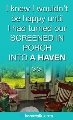 DIY screened porch turned haven!