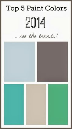 2014 top 5 paint colors - see the trends!