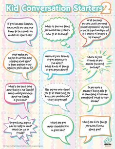 Kid Conversation Starters II