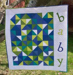 Spell It Out crib size.  http://www.etsy.com/listing/75225455/spell-it-out-pdf-quilt-pattern
