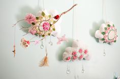Whimsical nursery mobile - #projectnursery