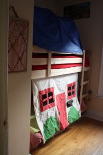 Dried Figs and Wooden Spools: how to make the bottom bunk as cool as the top: a tutorial