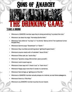 Sons Of Anarchy - The Drinking Game