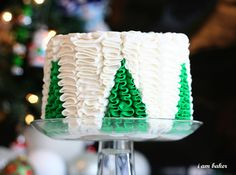 christmas cakes, holiday cake, tree cake, food, christma tree, ruffle cake, christma cake, christmas trees, ruffles