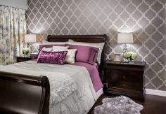 Grey Wall Colors in Romantic Bedroom Designs
