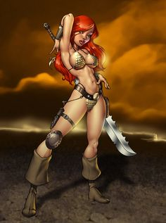 Red Sonja by ~Dominic-Marco