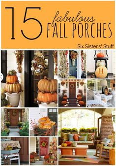 15 Fabulous Fall Porches - Decorating Ideas