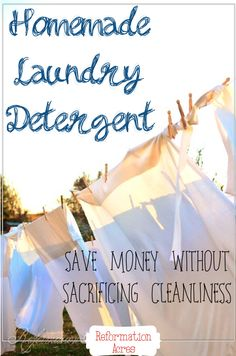 I've tried lots of recipes for homemade laundry soap over the years, but this DIY detergent recipe is the best! It's even strong enough to t...