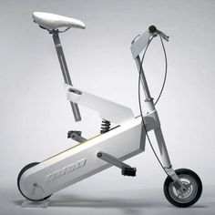 Compact Retractable Bike #industrial #product #design