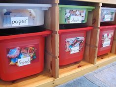 Lots of ideas for toy organization - great!