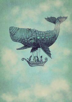 Tea at 2,000 Feet - Illustration Artwork by Eric Fan