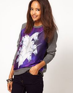 ASOS Sweatshirt with Galactic Horses