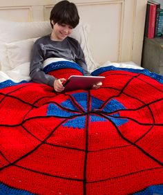 Spider Web Throw Free Crochet Pattern from Red Heart Yarns
