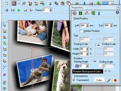Application makes high-quality images from images 3D logos and models    Application makes JPEG pictures, logos and ads for your Webpage.    It has object-oriented design which helps you edit pictures, manipulate with texts, and use special effects like shadows, glows, opacity as well as warp and transition.