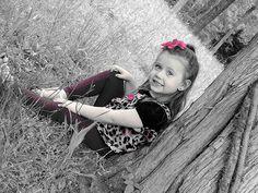 Family Picture Ideas, Toddler Girl Picture Ideas, Black & White Color Splash