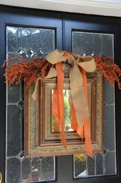Amanda Carol at Home: Fall Front Porch (tweek this idea a little for interior mirror)